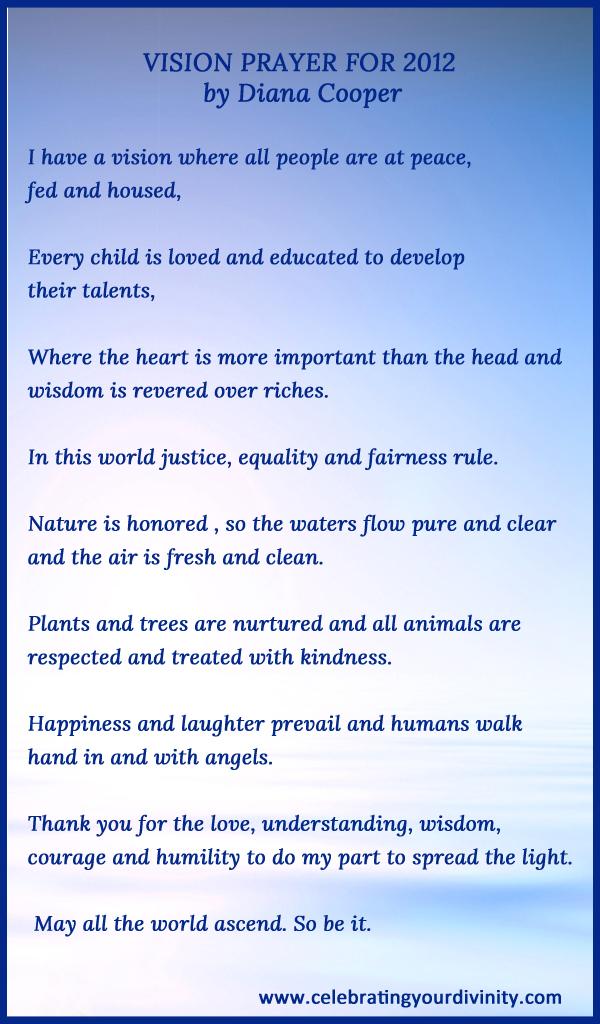 Vision Prayer for 2012