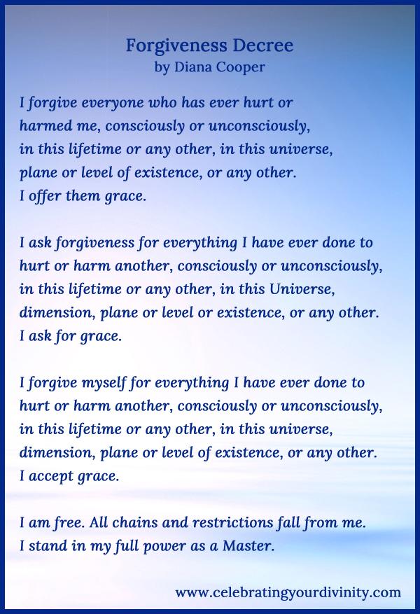Forgiveness Decree
