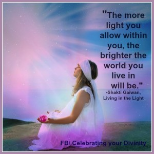 The more light you allow
